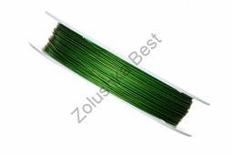 Ювелирный тросик 0,38 мм, зеленый, 70 м