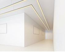 Алюминиевый подвесной профиль для светодиодной ленты с экраном 50*32мм