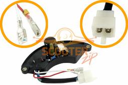 Блок AVR для генератора CHAMPION DG6501E-3,GG7501E-3 (с 2017 г.) (1 колодка на 4 провода+2 провода)
