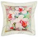 """Подушка декоративная Штучки, к которым тянутся ручки """"Цветы акварель. Нарцисс"""", цвет: белый, 38 x 38 см"""
