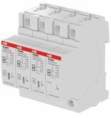 """OVR H T1-T2 3N 12.5-275s P QS Ограничитель перенапряжения 3P+N, тип 1+2, 275В, 12,5kA технология """"Quick safe"""" (сменные картриджи) ABB"""