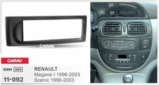 Переходная рамка для установки магнитолы CARAV 11-092 - RENAULT Megane I 1996-2002; Scenic 1996-2003