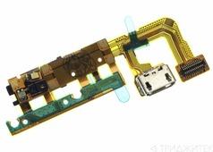 Системный разъем (разъем зарядки) для Samsung G935F (S7 Edge) с микрофоном, кнопкой HOME