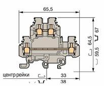 Клеммные соединения M6/8.N Клеммник на DIN-рейку 6 мм.кв.(синий) TYCO