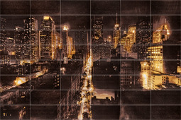 Керамическая плитка Атем Керамическое панно Night City M