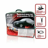 """Защитный чехол-тент на автомобиль """"AVS"""", 533 см х 178 см х 119 см. Размер 3XL"""