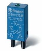 Модуль варисторный со светодиодом (28-60V) AC/DC Finder, 9902006098