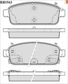 Дисковые Тормозные Колодки R Brake R BRAKE арт. RB1943
