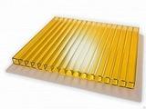 Поликарбонат сотовый Berolux Желтый 8мм