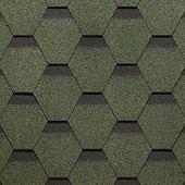 Гибкая битумная черепица Docke Сота Standard Зеленый