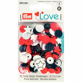 "Кнопки Color Snaps ""Звезда"" пластик 30 шт разноцветные Prym Love 393061"