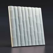 Стеновая гипсовая 3D панель – Бамбук, 500х500mm
