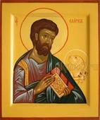 Апостол Марк. Размер (см): 9х10,5, Серия: ИК. Марк, апостол (рукописная икона)