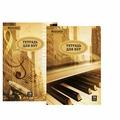 Тетрадь для нот А4, 16 л., BRAUBERG, обложка мелованный картон, вертикальная, город звуков, 2 вида