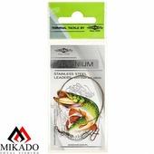 """Поводок """" Mikado """" ZGMDL 35CM10-G (металл) 35см/10кг-DL( уп.=2) зелёный (ZGMDL35CM10-G)"""
