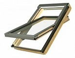 Мансардное окно энергосберегающее Fakro Standart FTS U2, ручка снизу, 660x980 мм