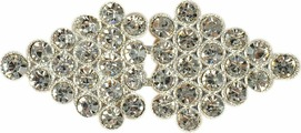 Застежка декоративная Арт Узор, 3032694, серебро, 6 х 2,6 см