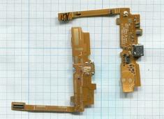 Разъем Micro USB для LG L70, D320, D280 (плата с системным разъемом и микрофоном)