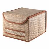 Коробка для хранения с крышкой коричневая ВО-032 Casy Home