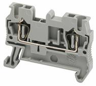Клеммник пружинный проходной, 2,5мм.кв., 2 точки подключения (серый) Schneider Electric, NSYTRR22