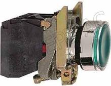 Лампы, кнопки, звонки, переключатели Кнопка зеленая с подсветкой без фиксации 220В 1НО+1НЗ (в сборе) Schneider Electric