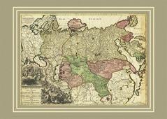 Новая карта всей империи Великой России, 68х48 см