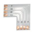 Коннектор для светодиодной ленты Ecola LED strip connector гибкая соед. плата L для зажимного разъема 4-х конт. 10 mm уп. 5 шт. SC41USESB