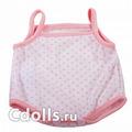 Gotz Polka - Dot Pink Bodysuit Size M (Боди в розовый горошек для кукол Готц 42 - 46 см)
