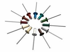 Заклепка вытяжная 4.0х10 мм алюминий/сталь, RAL 6005 (20000 шт в коробе) STARFIX (Цвет зеленый мох)