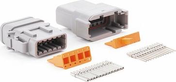 12 контактов, для соединения низковольтных цепей до 7,5А