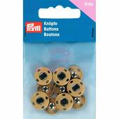 Кнопки пришивные латунь 14 мм 5 шт бежевый Prym 341901