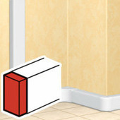 Заглушка торцевая - для односекционных кабель-каналов 50х105. Цвет Белый. Legrand DLP (Легранд ДЛП). 010700