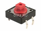 DTS24R, Переключатель: тактовая кнопка, 12.0 х 12
