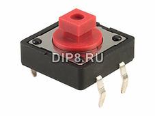 DTS24R, Переключатель тактовая кнопка, 12.0 х 12.