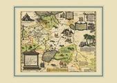 Карта России, Московии и Тартарии Дженкинсона, 68х48 см