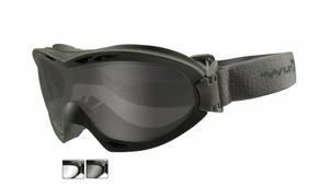 Тактическая маска WX NERVE R-8051G. Оправа серая олива, 2 вида линз.