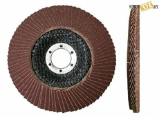 Круг Луга лепестковый торцевой КЛТ1 (прям.) Professional 125х22 Р100 80