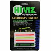 Мушка Hiviz оптоволоконная Magnetic Sight, M-Series, зелёный/красный, размер: 5,5-8,3 мм