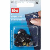 """Кнопки """"Холостяк"""" с острым стержнем Zeus 16 мм 8 шт черный Prym 331111"""