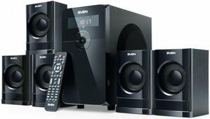 Акустическая система 5.1 Sven HT-200 Black (5x12+20W, FM, USB, SD, ПДУ)