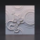 Стеновая гипсовая 3D панель – Эйфория, 500х500mm