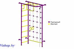 Детский спортивный комплекс Пионер-8СМ ПВХ пурпурно-желтый