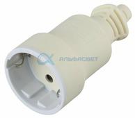 Б0019190 ЭРА Розетка кабельная c/з 16A прямой ввод белая (10/200/4000) R4(W)