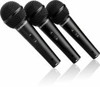Behringer XM1800S комплект - 3 суперкардиоидных динамических микрофона в кейсе