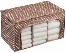"""Кофр универсальный Handy Home """"Полька"""", складной, цвет: пыльно-розовый, 56 х 36 х 30 см"""