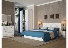 Спальня Ницца с 3-ств. шкафом (белый глянец)