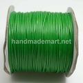 Шнур Вощеный, 1 мм, Полиэстер, Зеленый, 1 м