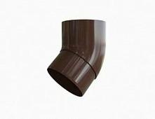 Колено (отвод) водосточной трубы Альта-Профиль Стандарт 45 град., D-74, Коричневый