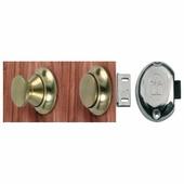 Замок для шкафов с кнопкой из хромированной латуни Foresti & Suardi 302C + 810C 19 мм