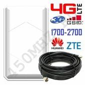 Панельная направленная Антенна 3G / 4G LTE 17-18 дБ (1700-2700 МГц)
